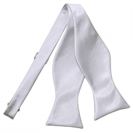 Silver Satin Self Tie Thistle Bow Tie