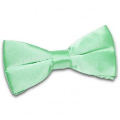 Mint Green Satin Pre-Tied Thistle Bow Tie