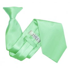Mint Green Satin Clip On Tie
