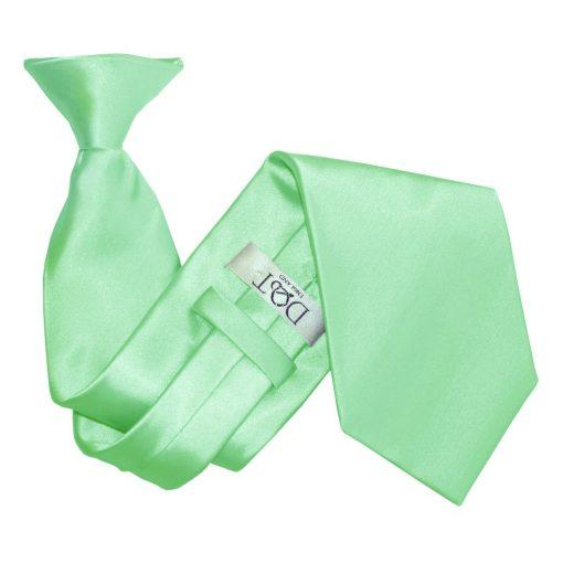 Mint Green Satin Clip On Tie