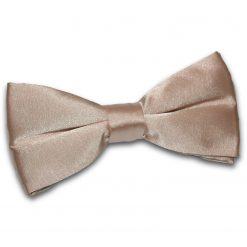 Mocha Brown Satin Pre-Tied Thistle Bow Tie