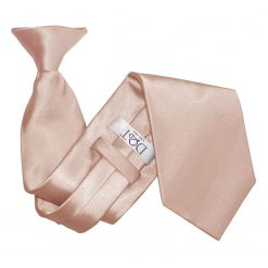 Mocha Brown Satin Clip On Tie