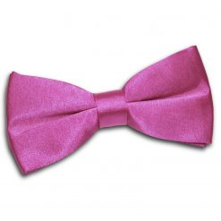 Mulberry Satin Pre-Tied Thistle Bow Tie