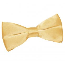 Pale Yellow Satin Pre-Tied Thistle Bow Tie