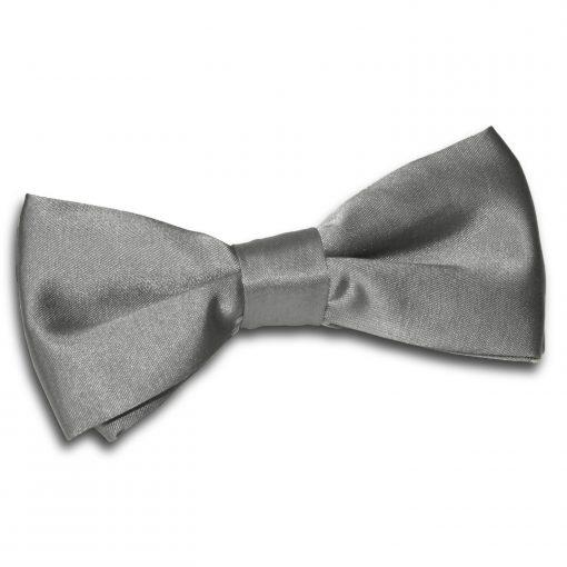 Platinum Satin Pre-Tied Thistle Bow Tie