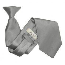 Platinum Satin Clip On Tie