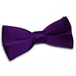 Purple Satin Pre-Tied Thistle Bow Tie