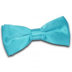 Robin's Egg Blue Satin Pre-Tied Thistle Bow Tie