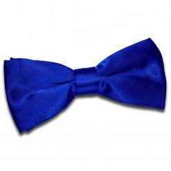 Royal Blue Satin Pre-Tied Thistle Bow Tie