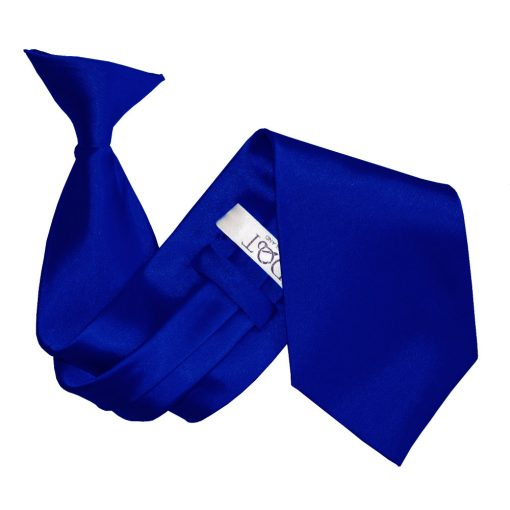 Royal Blue Satin Clip On Tie