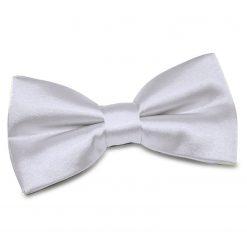 Silver Satin Pre-Tied Thistle Bow Tie