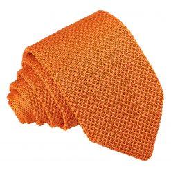 Tangerine Knitted Slim Tie