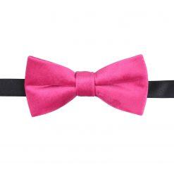 Hot Pink Plain Velvet Pre-Tied Thistle Bow Tie