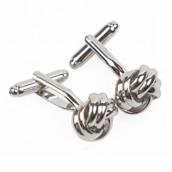 Silver Knot Plated Cufflinks