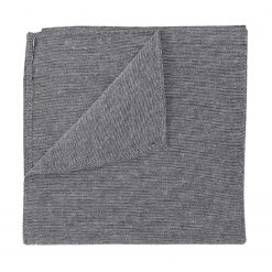 Charcoal Chambray Cotton Pocket Square