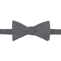 Charcoal Chambray Cotton Self Tie Thistle Bow Tie