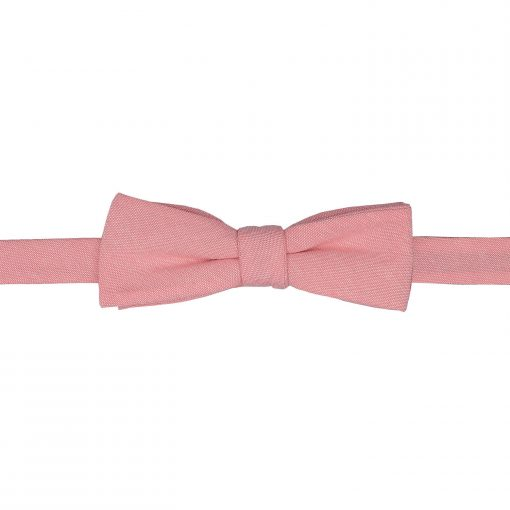 Coral Chambray Cotton Self Tie Batwing Bow Tie