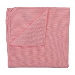 Coral Chambray Cotton Pocket Square