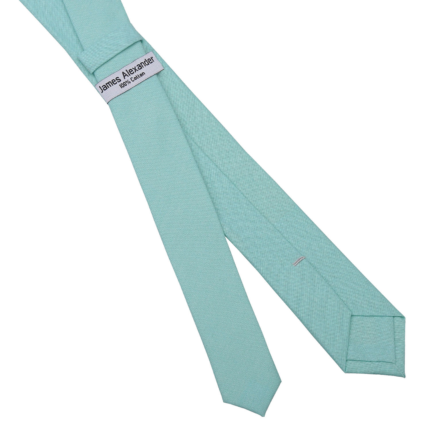 light turquoise chambray cotton tie
