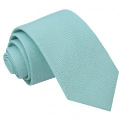Light Turquoise Chambray Cotton Slim Tie