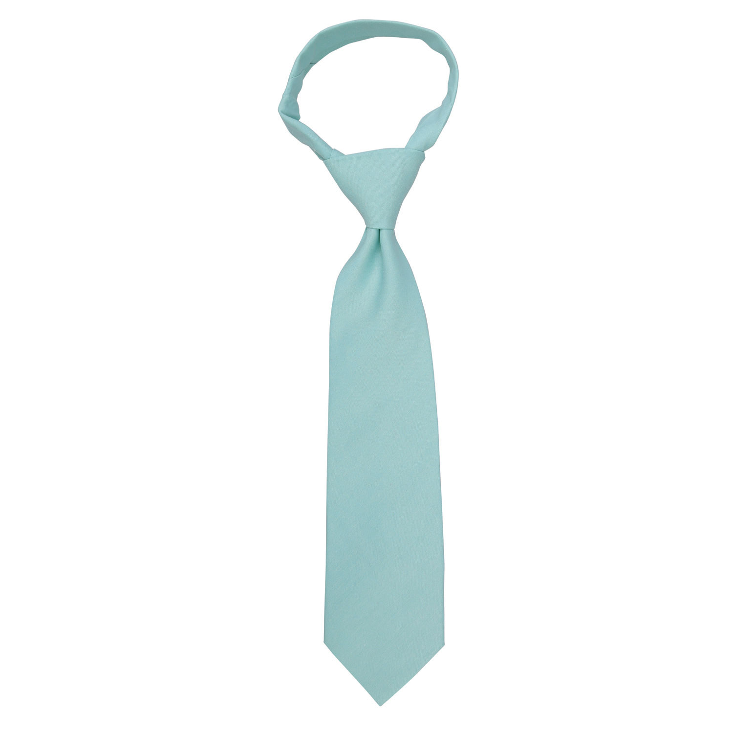 light turquoise chambray cotton classic tie