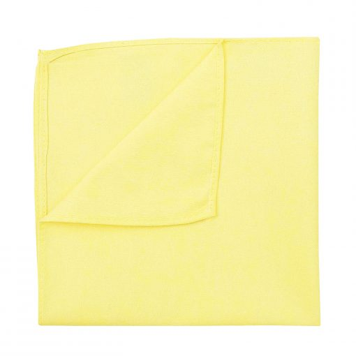 Light Yellow Chambray Cotton Pocket Square