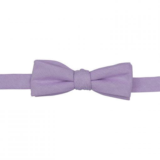 Lilac Chambray Cotton Self Tie Batwing Bow Tie