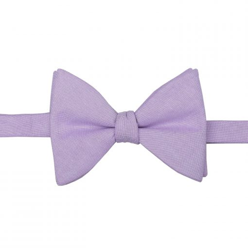 Lilac Chambray Cotton Self Tie Butterfly Bow Tie