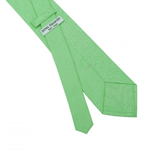 Mint Green Chambray Cotton Classic Tie