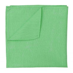 Mint Green Chambray Cotton Pocket Square