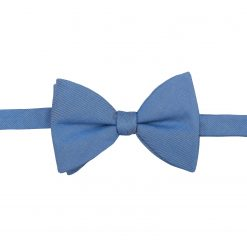 Parisian Blue Chambray Cotton Self Tie Butterfly Bow Tie