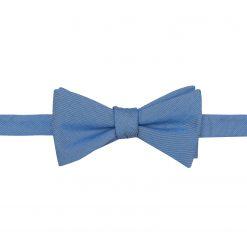 Parisian Blue Chambray Cotton Self Tie Thistle Bow Tie