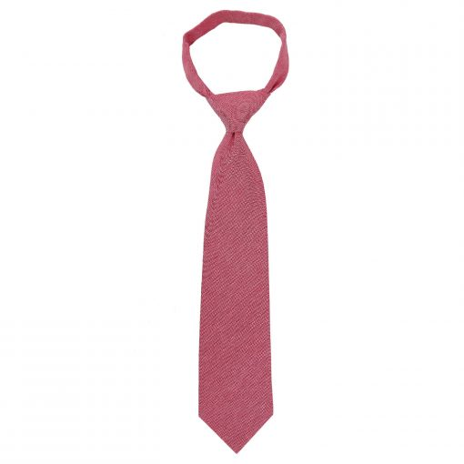 Red Chambray Cotton Classic Tie
