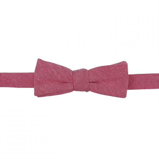 Red Chambray Cotton Self Tie Batwing Bow Tie