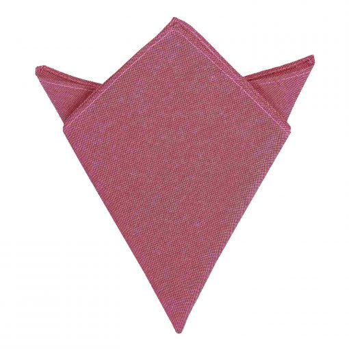Red Chambray Cotton Pocket Square