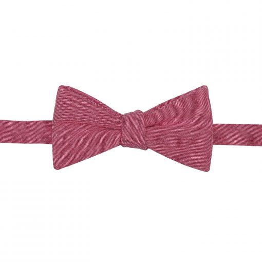 Red Chambray Cotton Self Tie Thistle Bow Tie