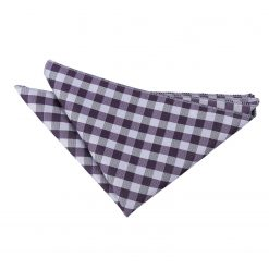 Purple Gingham Check Pocket Square