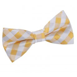 Sunflower Gold Gingham Check Pre-Tied Thistle Bow Tie