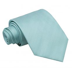 Aqua Herringbone Silk Classic Tie