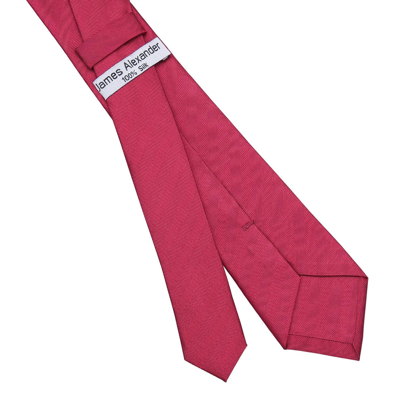 44a35c6f9e65 Burgundy Herringbone Silk Slim Tie - James Alexander