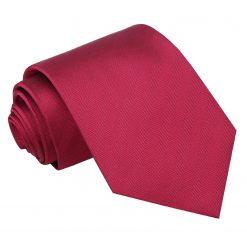 Burgundy Herringbone Silk Classic Tie