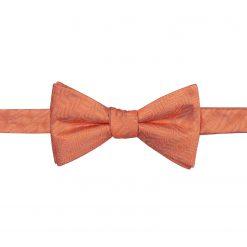 Coral Herringbone Silk Self Tie Thistle Bow Tie
