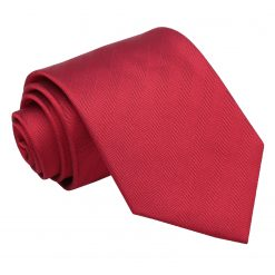 Red Herringbone Silk Classic Tie