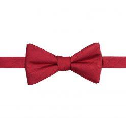 Red Herringbone Silk Self Tie Thistle Bow Tie