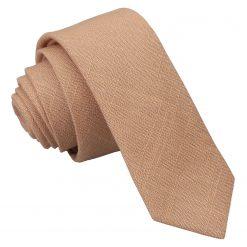 Gold Hopsack Linen Skinny Tie