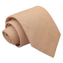 Gold Hopsack Linen Classic Tie
