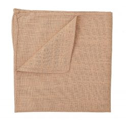 Gold Hopsack Linen Pocket Square
