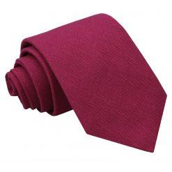 Plum Hopsack Linen Classic Tie