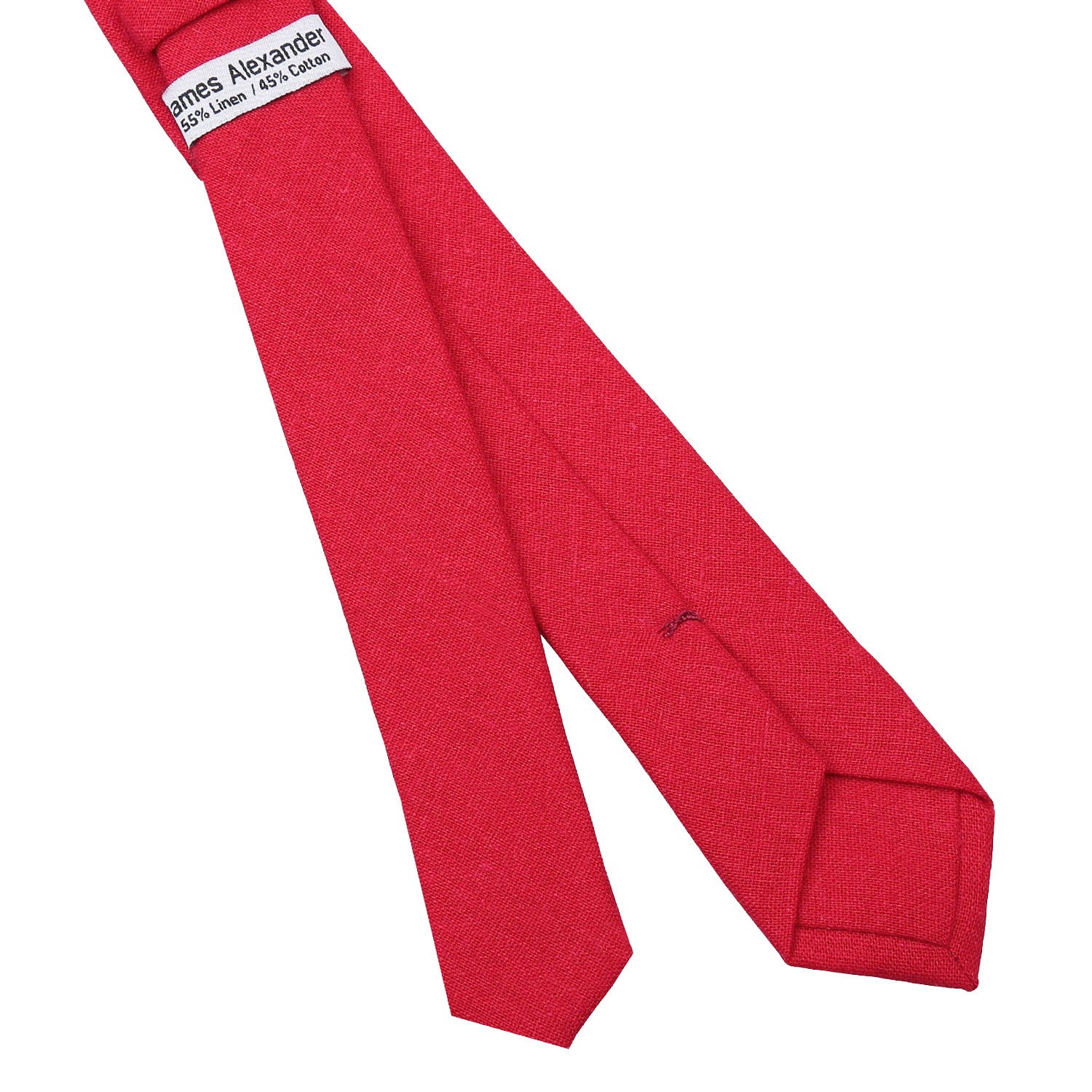 d57fa42211cd Red Hopsack Linen Skinny Tie - James Alexander