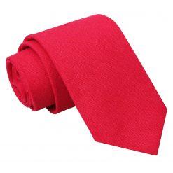 Red Hopsack Linen Slim Tie